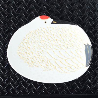 雪衣金羽根鶴形 銘々皿 488-96781【有田焼 和食器 白い食器 鶴 つる 小皿 銘々皿 菓子皿・取り皿 磁器 お正月 お祝い おもてなし】