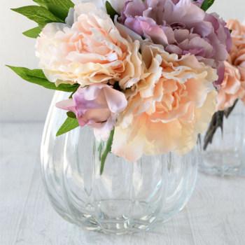 パンプキンボール Lサイズ 822-1【Bobcraft ボブクラフト フラワーベース 花器 花瓶 ガラス雑貨 インテリア雑貨 おしゃれ】