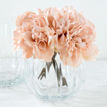 パンプキンボール Mサイズ 822-2【Bobcraft ボブクラフト フラワーベース 花器 花瓶 ガラス雑貨 インテリア雑貨 おしゃれ 洗える 丸洗い】