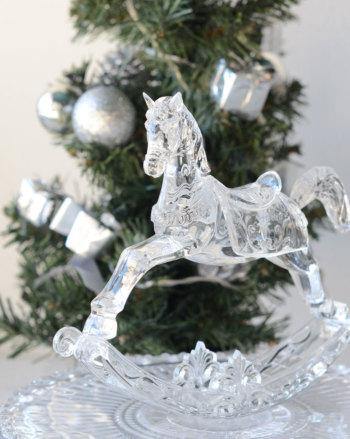 アクリルロッキングホース 4790【クリスマス/Christmas/Xmas/飾り/装飾/雑貨/ディスプレイ/卓上置物】