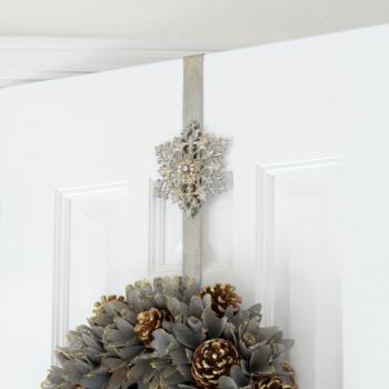 スノーフレイク リースドアハンガー 6429【クリスマスリース リースフック リースハンガー ドア用 Xmas Christmas】
