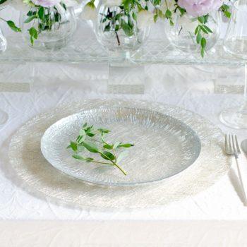 アイスベルク フラッシュ Eisberg -FLASH- プレート24cm 2色 EB2441【トルコ製 ガラス食器 おしゃれ おもてなし パーティー お皿 デザート皿】