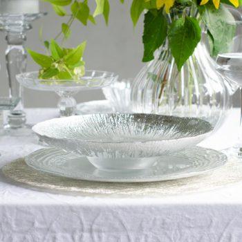 アイスベルク フラッシュ Eisberg -FLASH- ワイドリムクーププレート24cm 2色 EB2442【トルコ製 ガラス食器 おしゃれ おもてなし パーティー お皿 デザート皿 サラダ皿】