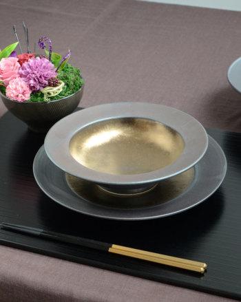 武蔵 musashi ムサシ リムクーププレート Sサイズ MS1812【和食器 和モダン おしゃれ おもてなし M.STYLE ミヤザキ食器 食洗機可 電子レンジ可】