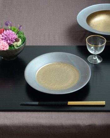 武蔵 musashi ムサシ ラウンドプレート Sサイズ MS1901【和食器 和モダン おしゃれ おもてなし M.STYLE ミヤザキ食器 食洗機可 電子レンジ可】