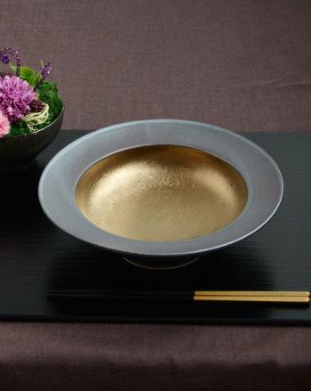 武蔵 musashi ムサシ リムクーププレート Mサイズ MS2112【和食器 和モダン おしゃれ おもてなし M.STYLE ミヤザキ食器 食洗機可 電子レンジ可】
