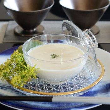 【和食器−for Japanese Cuisine−】蓋物 No.10070 CR 413590【ガラス食器 和モダン おしゃれ おもてなし 蓋付中鉢 日本製 業務用】