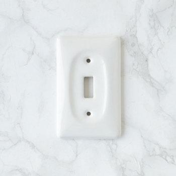 アメリカンスイッチプレート セラミック製2 シングル【USA】陶器・磁器