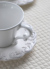 Trianon blanc トリアノン カップ&ソーサー【COTE TABLE フランス コーヒーカップ ティーカップ フレンチカントリー 輸入洋食器】