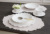 COTE TABLE コテターブル フランス フレンチカントリー 輸入洋食器 陶器食器 食洗機可 電子レンジ可 ホワイト 白 エレガント リーフ ブライダル スープ皿 楕円皿 オーバル