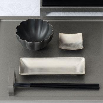 イタリア 長小皿 ピューター YSI-0062【Y's home style/やま平窯/有田焼/磁器/和食器/和モダン/おしゃれ/日本製/made in japan】